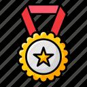 champion medal, medal, olympics medal, ribbon badge, star medal icon