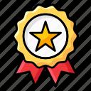 badge, champion badge, olympics badge, ribbon badge, star badge icon