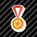 award, medal, prize, star icon