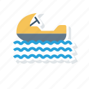 boat, sailingboat, ship, water icon