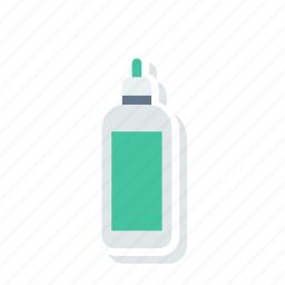 bottle, protiens, shake, water icon