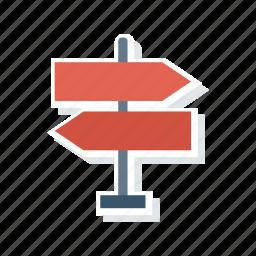 arrows, board, direction, signboard icon