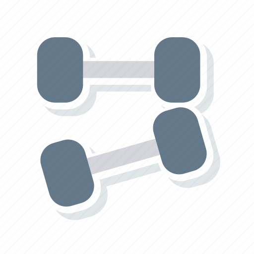 dumbbell, fitness, heavy, weight icon