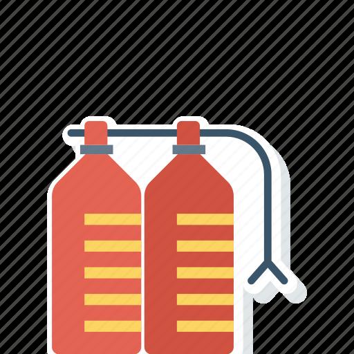 cylinder, extinguisher, fire, safety icon