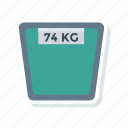 heavy, kg, machine, weight icon