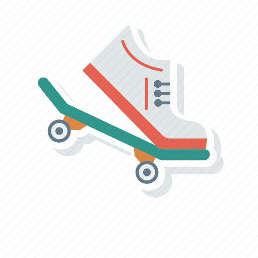 board, scatting, shoes, skate icon
