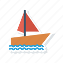 boat, container, sailing, ship