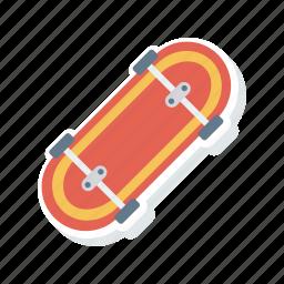 board, scatting, skateboard, sports icon