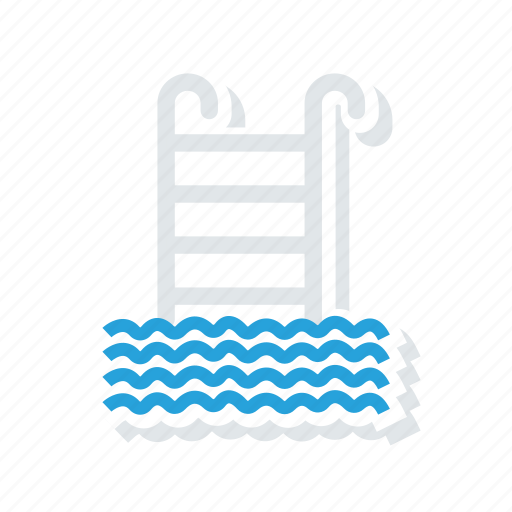 pool, stairs, swimming, water icon
