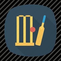 ball, bat, cricket, wicket icon