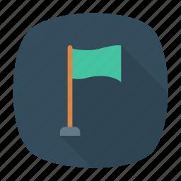 achieve, flag, goal, target icon