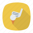 ball, game, golf, golfcart icon