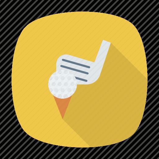 ball, game, golf, golfcart icon