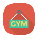 board, gym, label, signboard icon