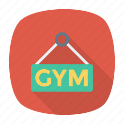 board, gym, label, signboard icon