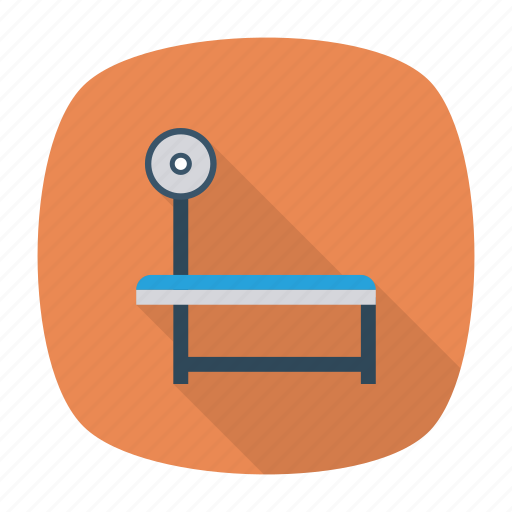 dumbbell, gym, table, weights icon