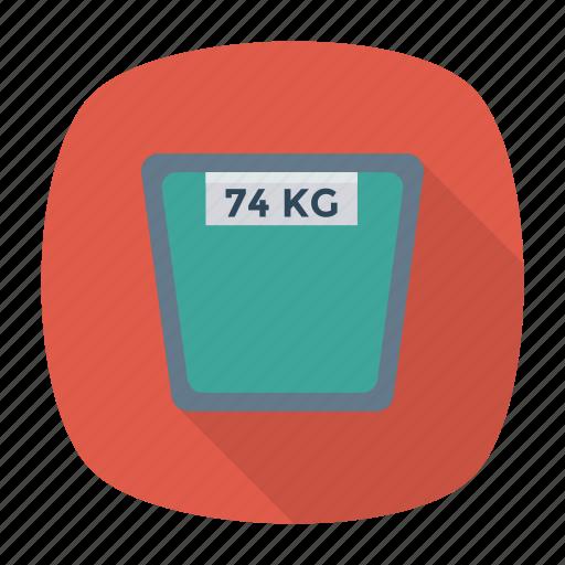 heavy, kg, machine, weight icon