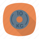 dumbbell, gym, kilogram, weight icon