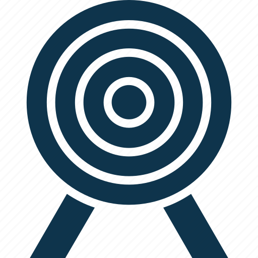 bullseye, dartboard, objective, sports, target icon