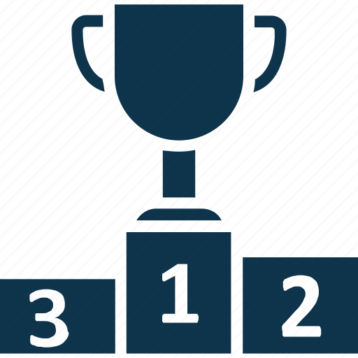podia, podium, position lectern, trophy, trophy podium icon