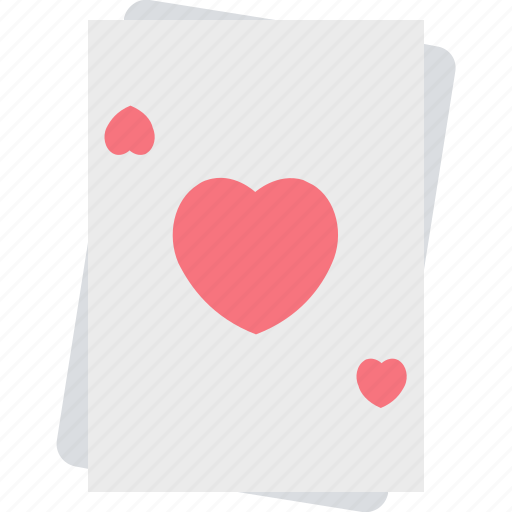 ace of heart, casino, gambling, heart card, suit card icon