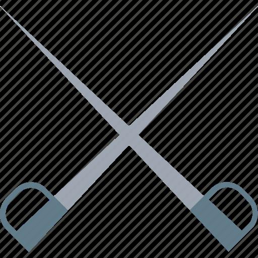 fight, medieval, medieval swords, swords, two swords icon