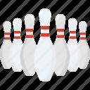 alley pins, bowling, bowling pins, hitting pins, sports icon
