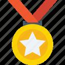 achievement, medal, position medal, reward, star medal icon