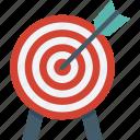 bullseye, dartboard, objective, sports, target icon