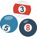 billiard, billiard balls, cue sports, pool balls, snooker balls icon