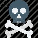 bones, danger, skull, toxic, warning icon
