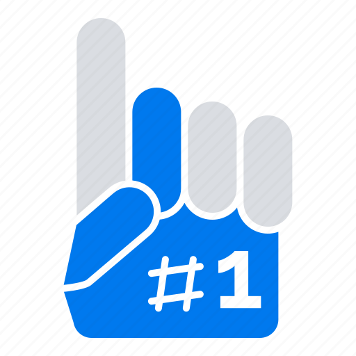 Fanatic, finger, foam, sport icon - Download on Iconfinder
