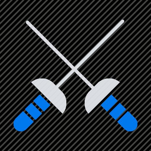 fencing, sabre, sport icon