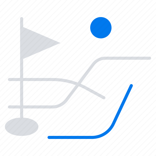 ball, field, golf, sport icon