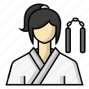 avatar, karate, martial arts, sports icon
