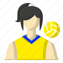 avatar, ball, sports, vooley icon