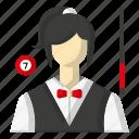 avatar, billiards, pool cue, sports icon