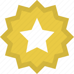 achievement, award, badge, gold, medal, reward, star icon