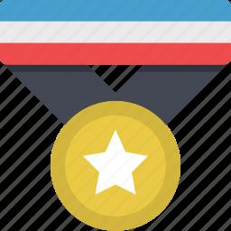 achievement, award, badge, medal, reward, star, trophy icon