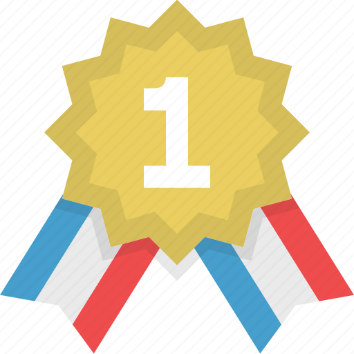 achievement, badge, best, first place, medal, success, winner icon