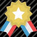 badge, gold, medal, star, achievement, prize, reward icon