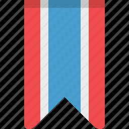 bookmark, bookmarks, flag, rank, ribbon, stripes icon