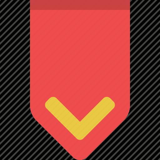 achivement, award, bookmark, favorite, rank, ribbon, stripe icon