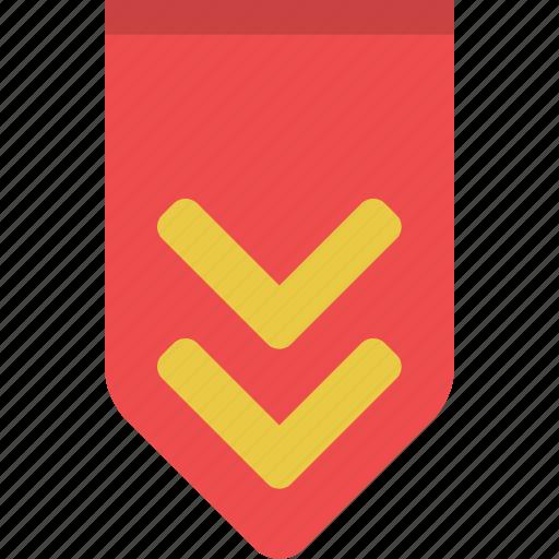 achievement, award, bookmark, favorite, rank, ribbon, stripes icon