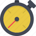 speed, sprint, stopwatch, time, timer icon