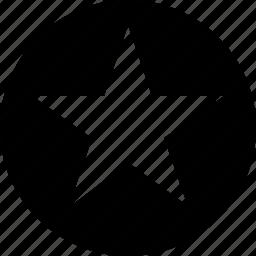 circle, star icon