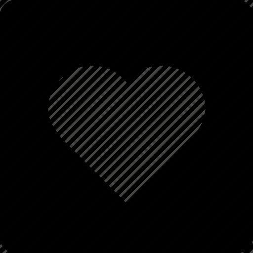 bookmark, favorite, heart, love, square icon
