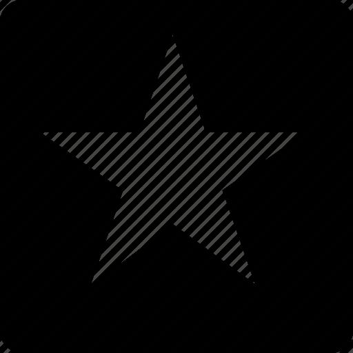 bookmark, favorite, square, star icon