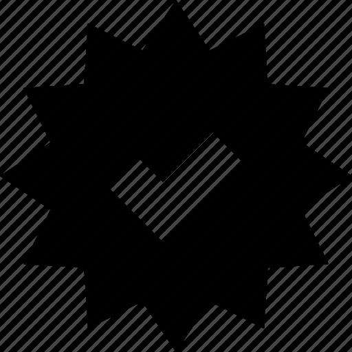 badge, checkmark, star icon