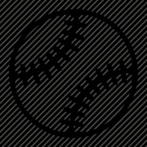 outline sports baseball softball ball icon icons editor open